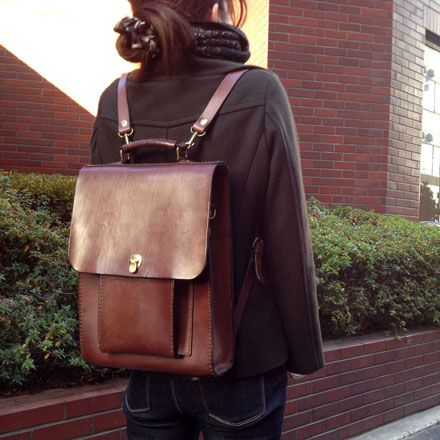 博多工房作り手:松尾「3way縦型バッグ」