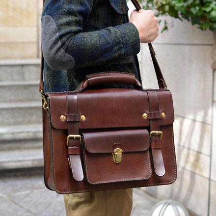 本店作り手:西川「学生鞄風・2wayビジネスバッグ」