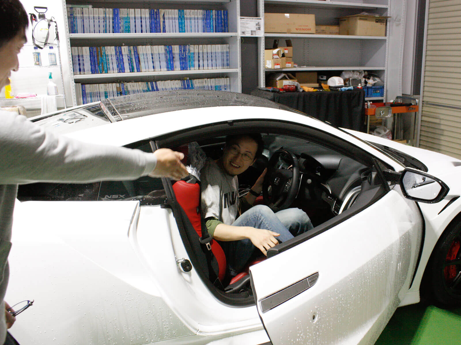 乗車→エンジン