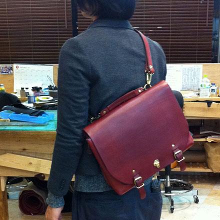 博多工房作り手:木村「ナレッジバッグの3wayタイプ」