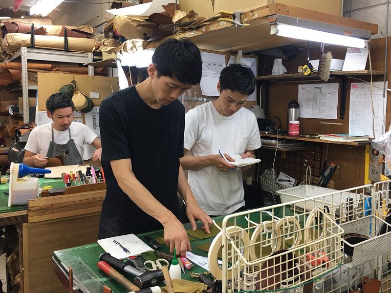 いつもはヘルツ本店にいる作り手の村松