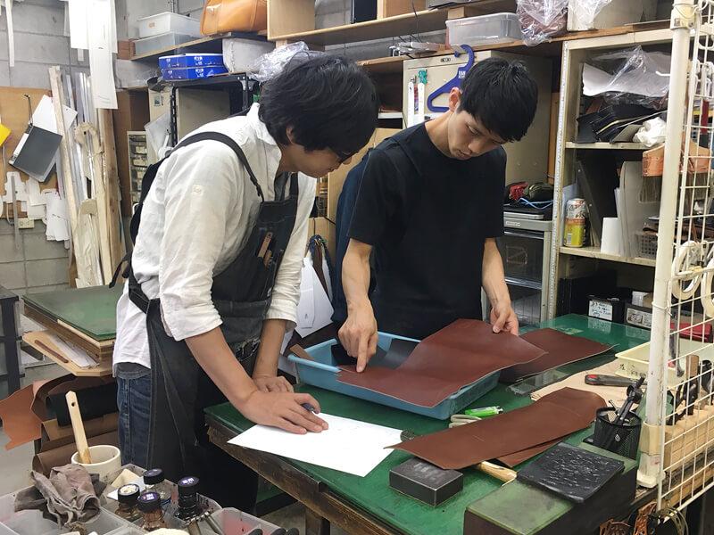 作り手の佐藤と村松
