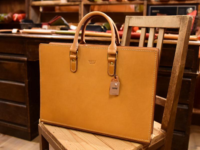 大阪店の作り手:西尾作「スマートビジネスバッグ」