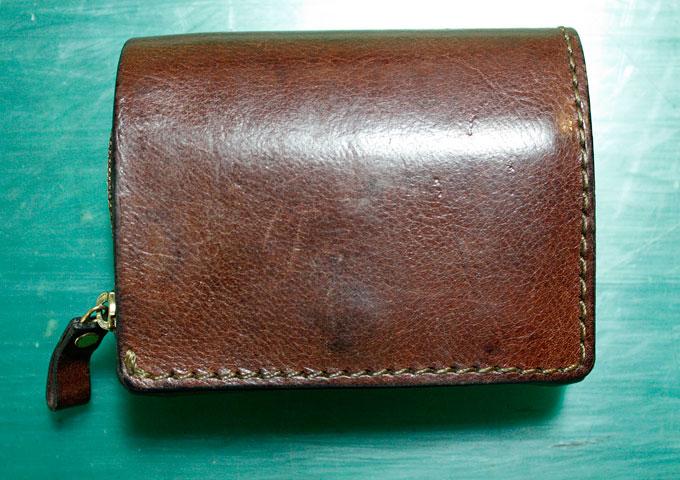 2年使用した小型の二つ折り財布(WS-64)