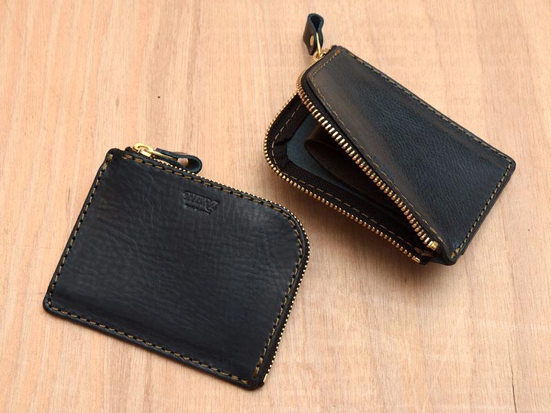【ネイビー特別仕様】L字ファスナーミニ財布(KK-38)