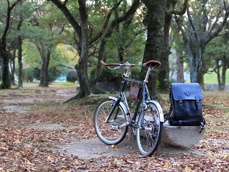 自転車と愛用のリュック