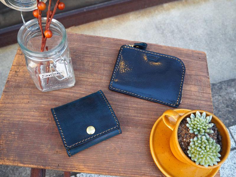 ポケットサイズの財布&ボックス型の小銭入れ