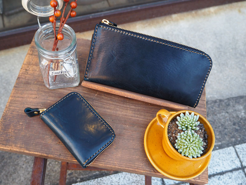 L字ファスナーの長財布&ファスナーミニ財布