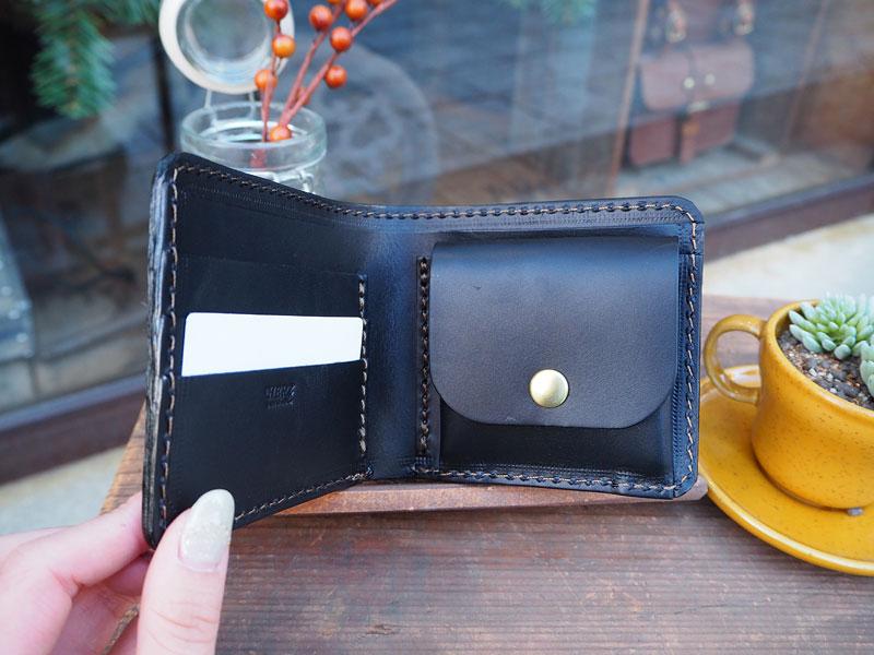 二つ折り財布 内部オールブラック