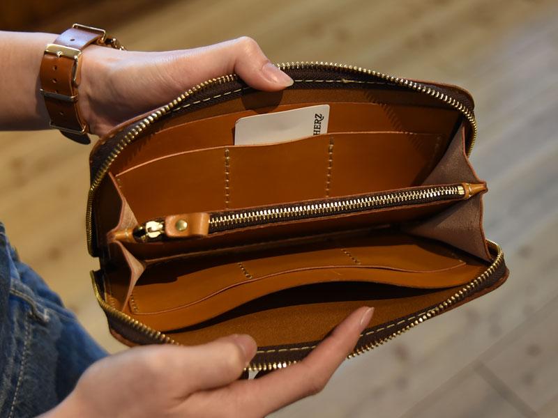 大きい長財布 オープン
