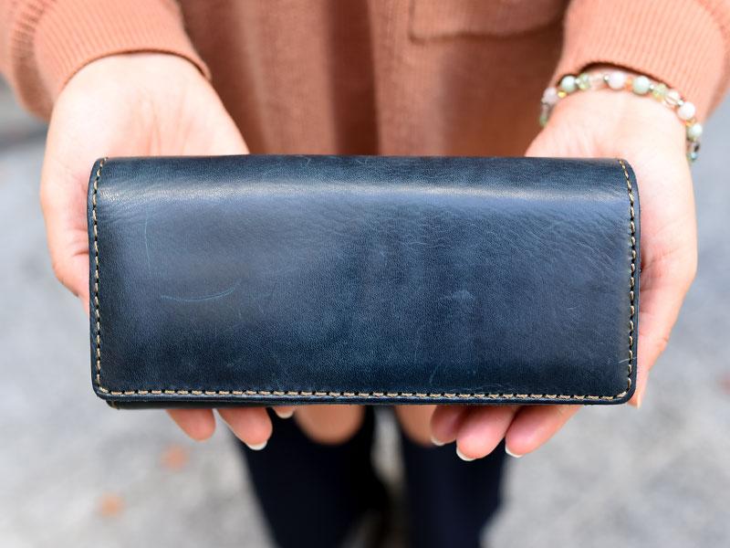 ミッスーリネイビーの長財布(WL-63)
