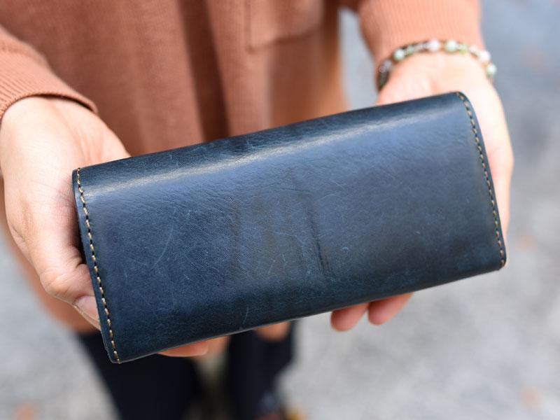 ミッスーリネイビーの長財布(WL-63) 後面