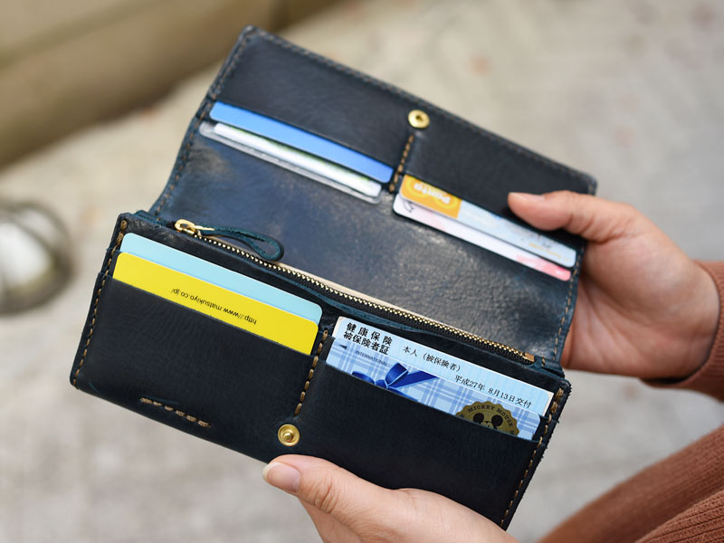 ミッスーリネイビーの長財布(WL-63) オープン