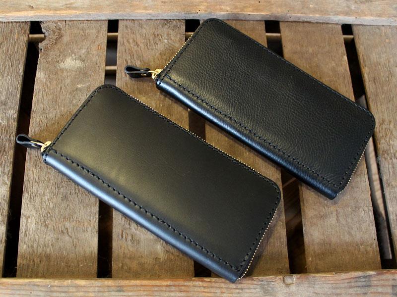 ファスナー長財布の革質比較