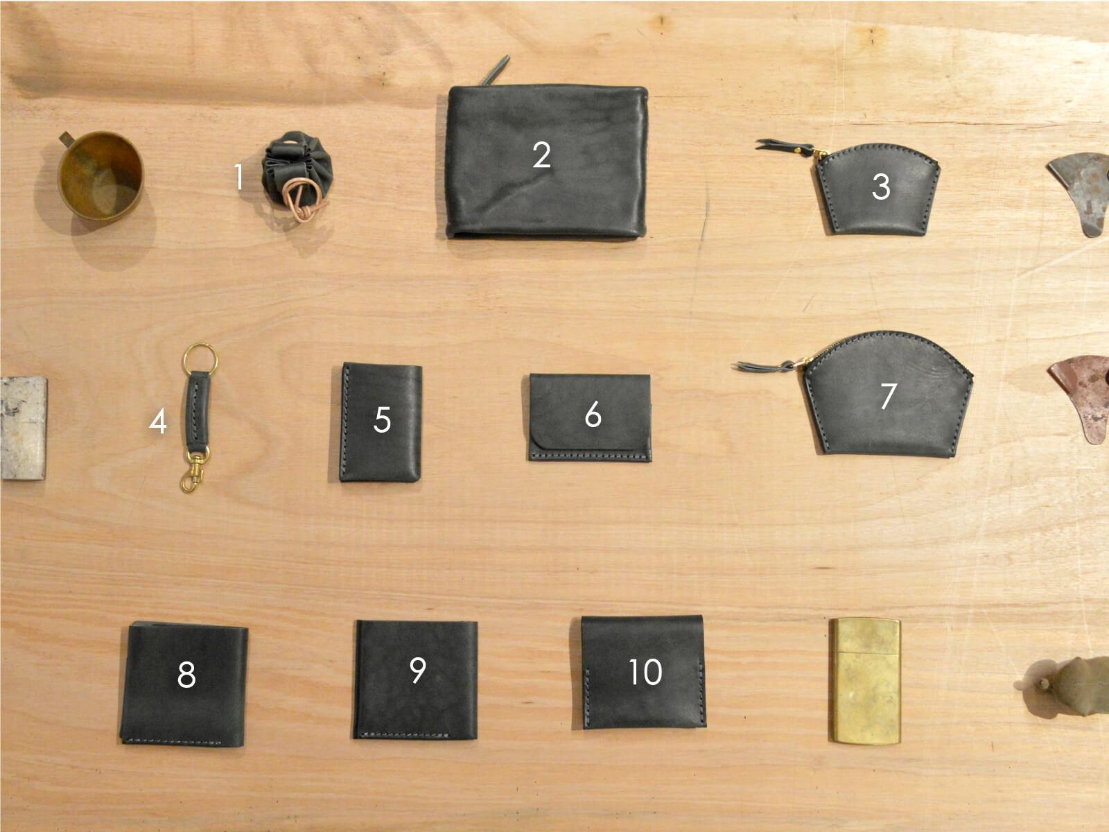 馬革小物10アイテム