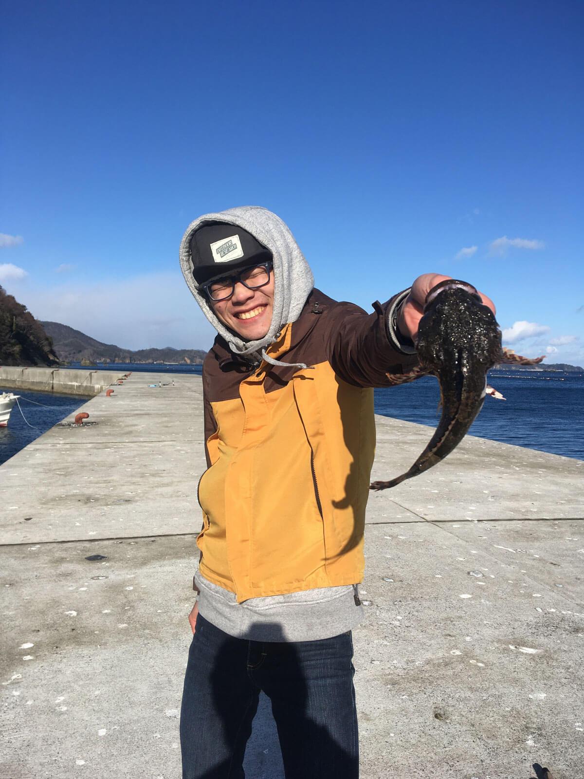 お魚釣れました