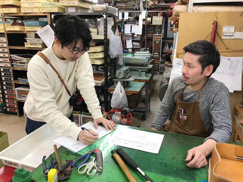 オンラインショップの小野寺と作り手セイジ
