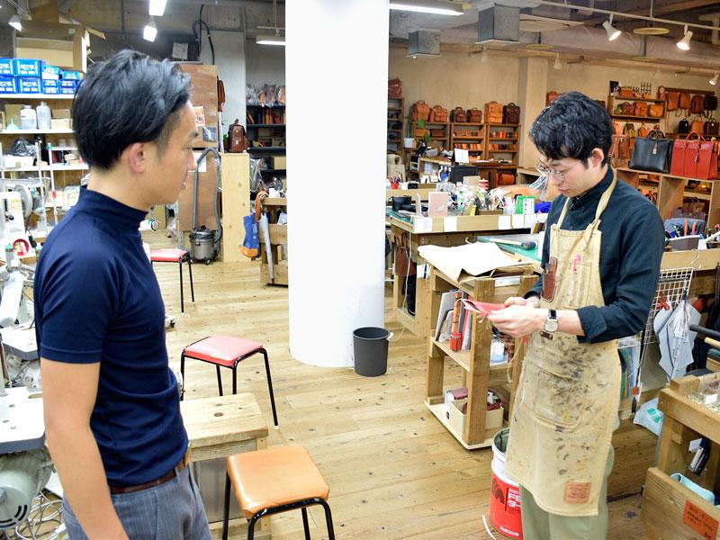名古屋店の作り手と相談