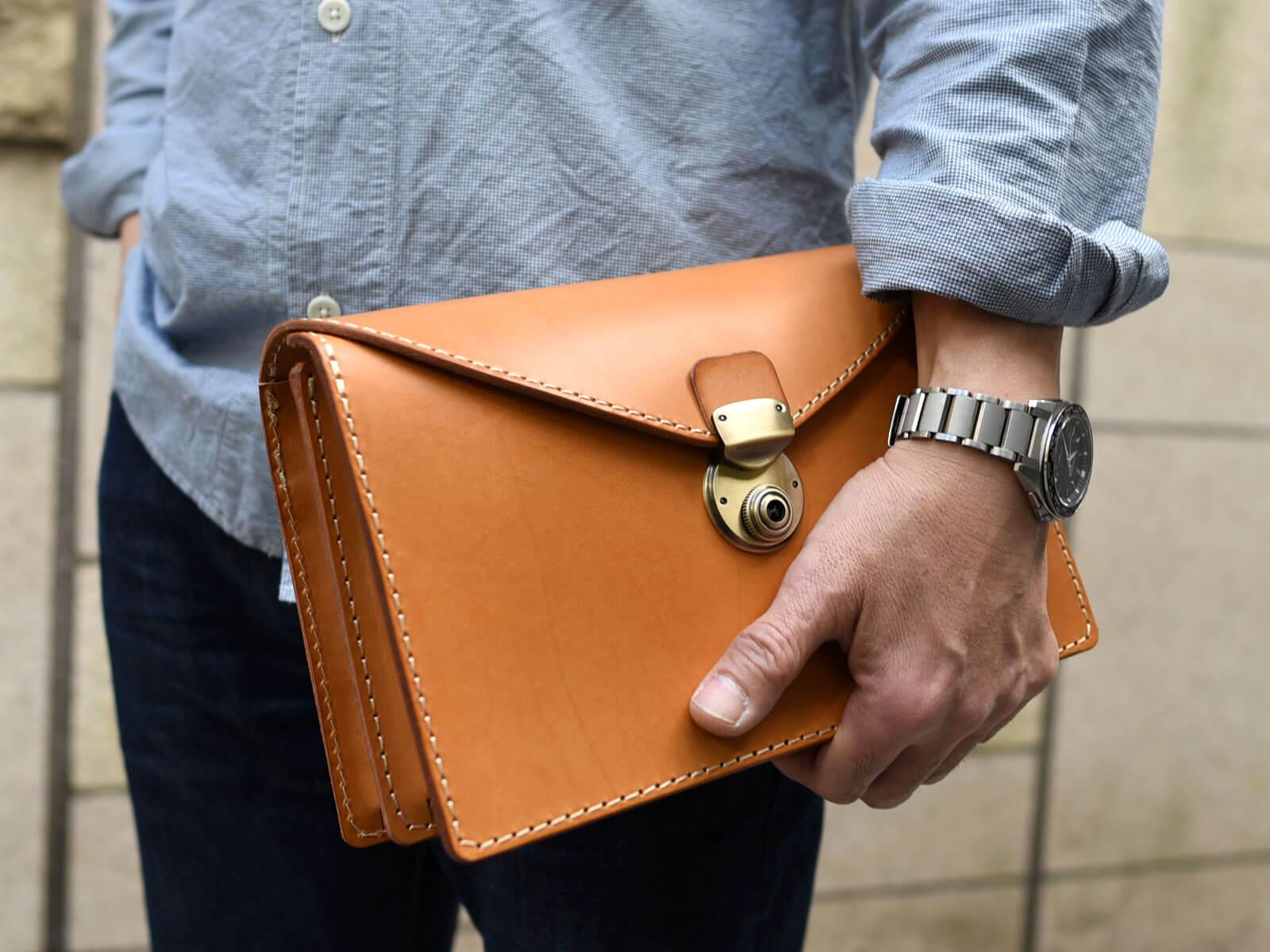 新作:フラップセカンドバッグ・仕切り付き(S-1)