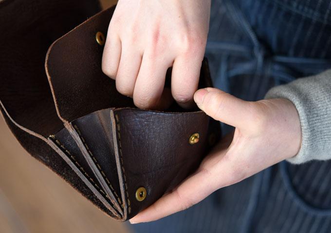 小型のマチ付き二つ折り財布(GS-15) 愛用方法3