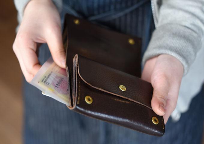 小型のマチ付き二つ折り財布(GS-15) 愛用方法5