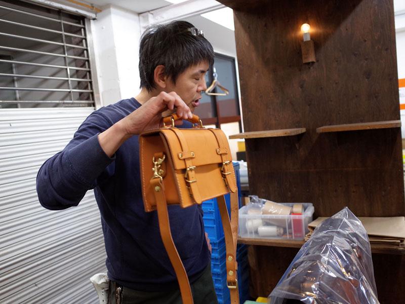 渋谷工房 鈴木のミニバッグ
