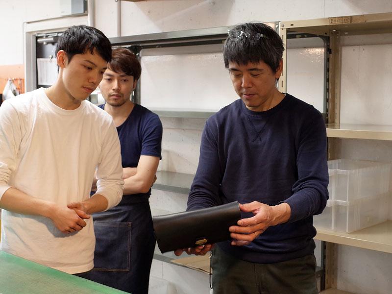 新人の作り手:隆太郎のクラッチバッグ
