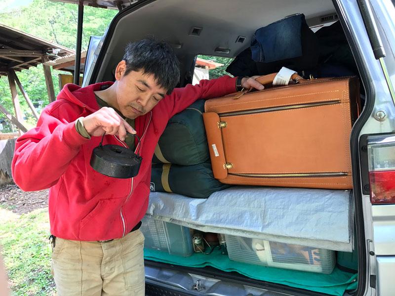 GWは旅モノバッグを連れてキャンプへ