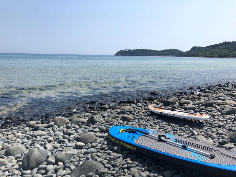 佐賀県の唐津の海