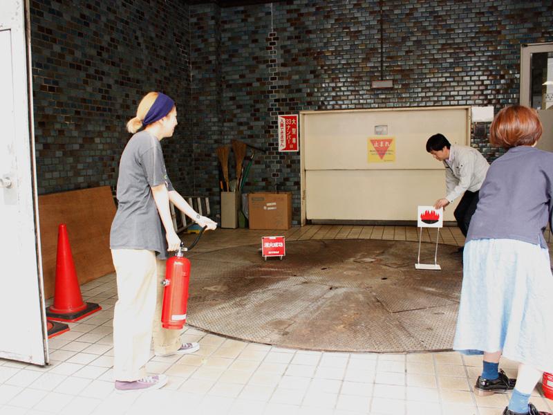 仙台店、防災訓練の様子その2