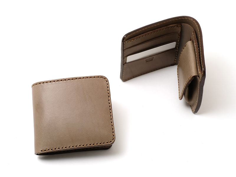 【グレー特別仕様】二つ折り財布(WS-8)