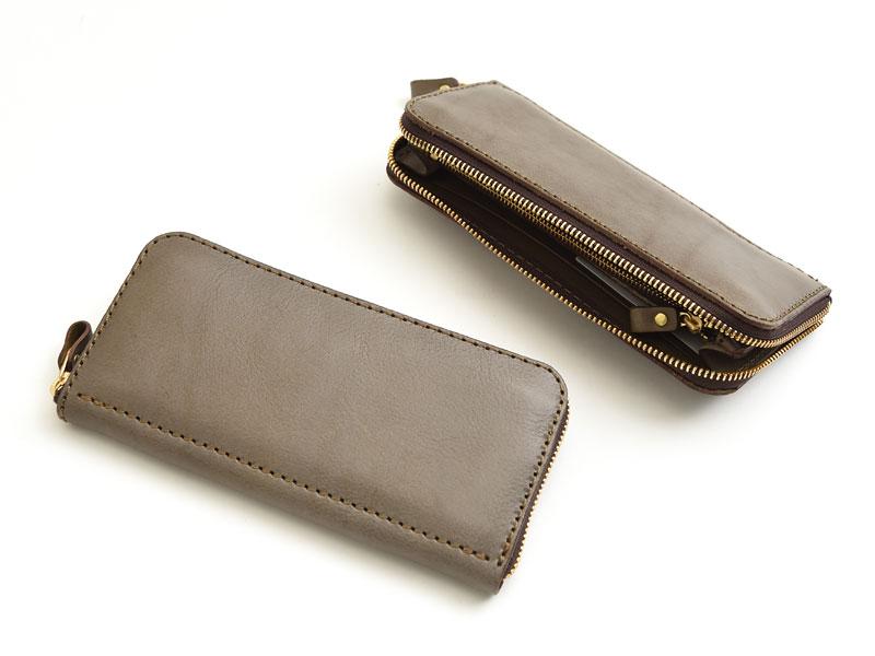 【グレー特別仕様】ファスナー長財布(WL-58)