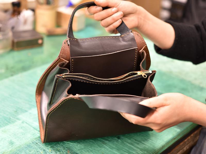 WALL handbag制作過程その3