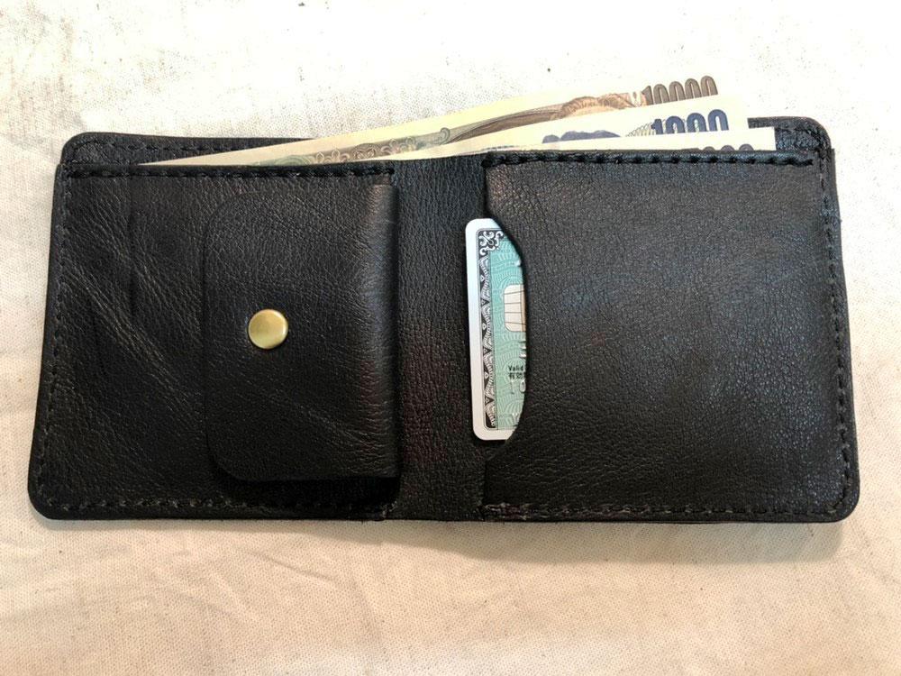 スリム財布 開いた状態