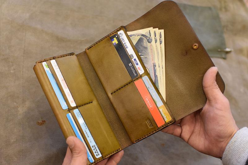 ダブルフラップ長財布(WL-2) カード収納