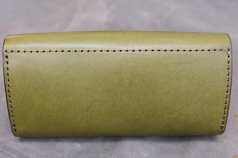 ダブルフラップ長財布(WL-2) 新品のグリーン後面