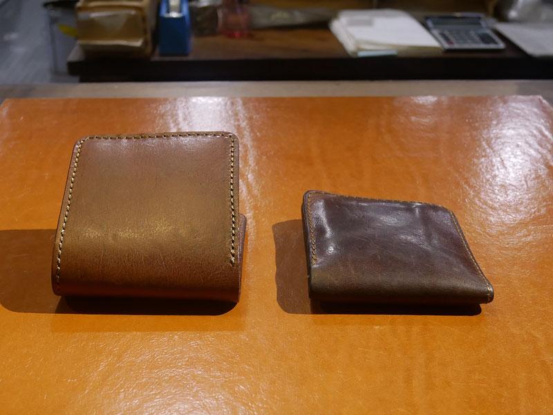二つ折り財布(WS-8) チョコのエイジング2