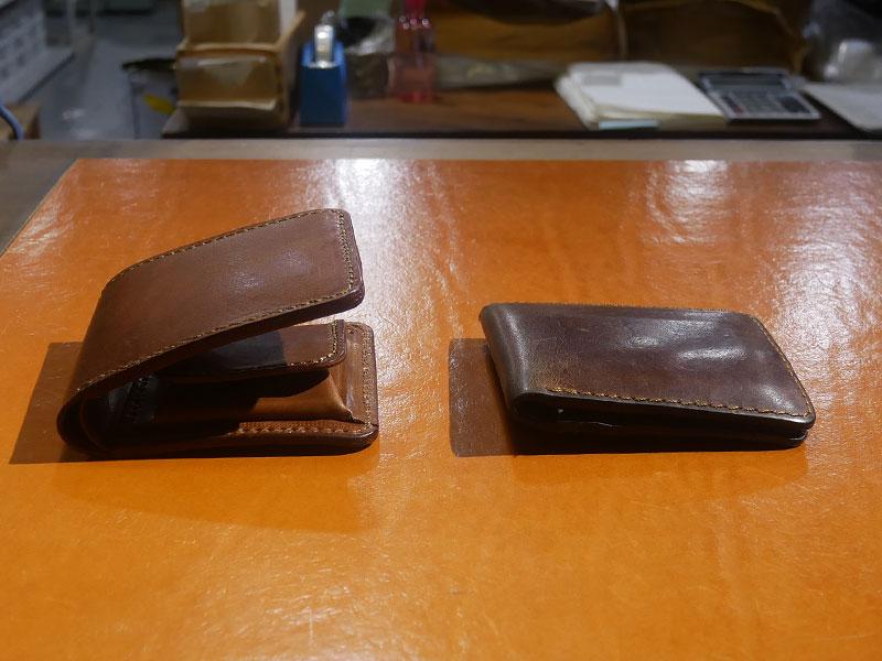 二つ折り財布(WS-8) チョコのエイジング3