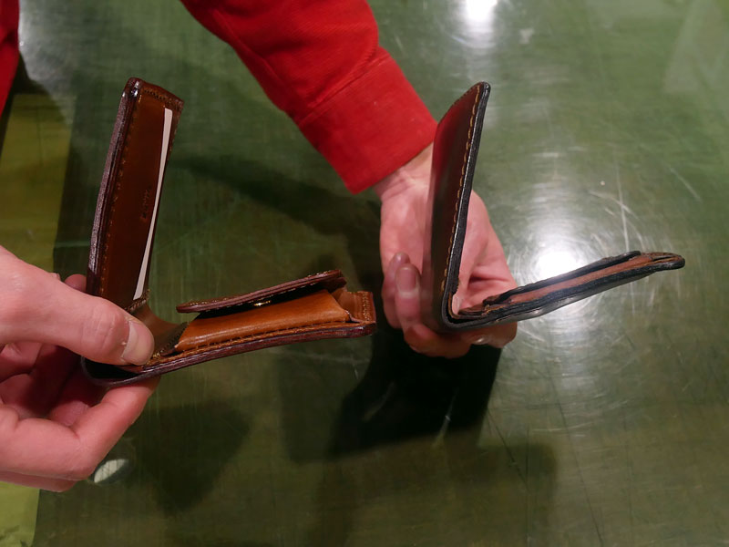 二つ折り財布(WS-8) チョコのエイジング7