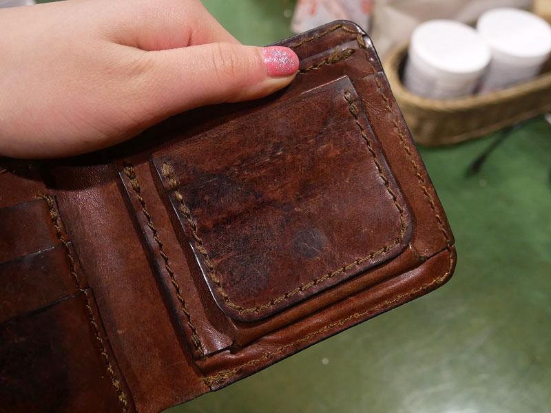 二つ折り財布(WS-8) チョコのエイジング9
