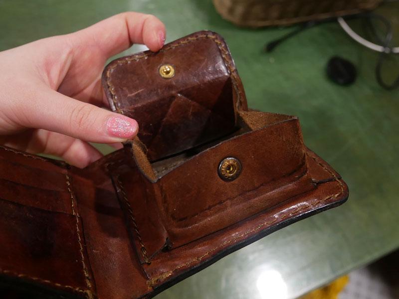 二つ折り財布(WS-8) チョコのエイジング10