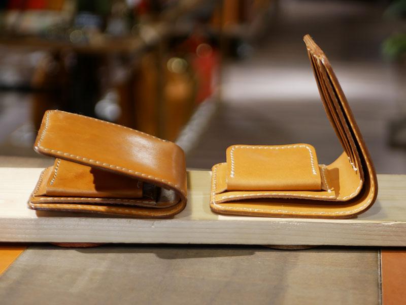 二つ折り財布(WS-8) エイジング比較2