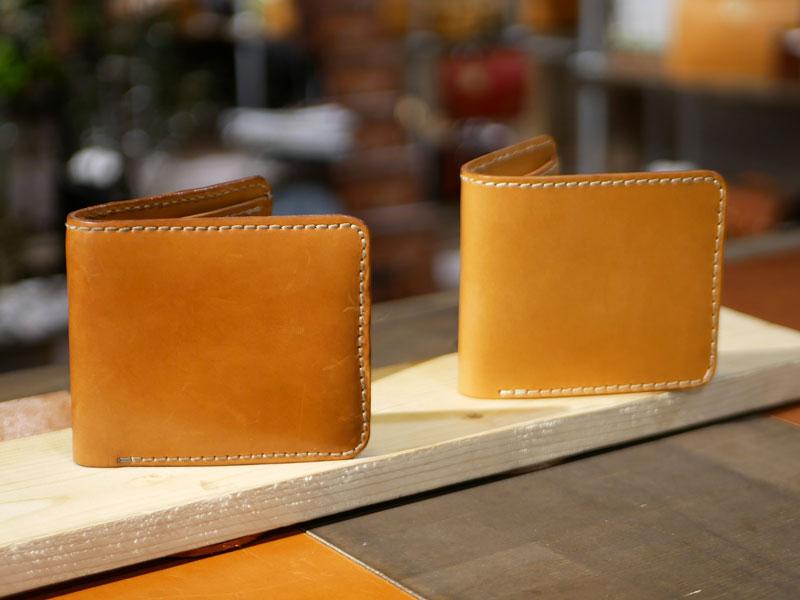 二つ折り財布(WS-8) エイジング比較