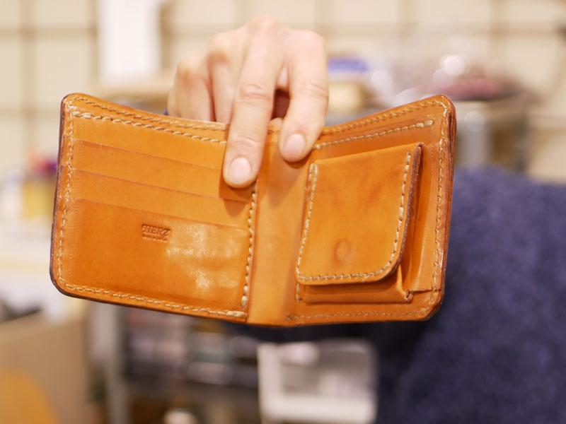 二つ折り財布(WS-8) エイジング比較4