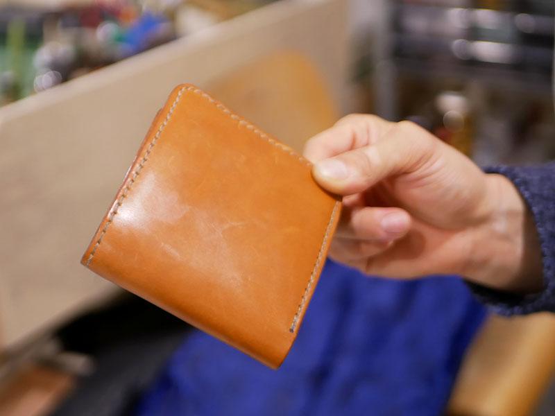 二つ折り財布(WS-8) エイジング比較3