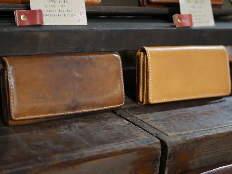 ソフトレザーの長財布(WL-63) エイジング
