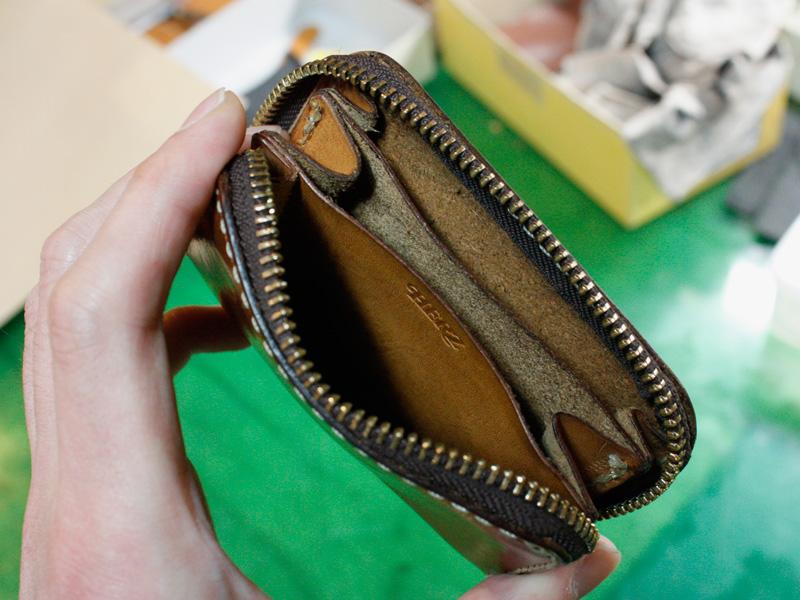 コンパクト財布(KK-59)中の仕切り様子