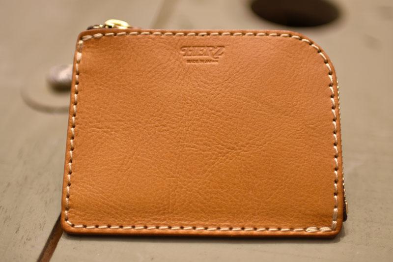 L字ファスナーミニ財布(KK-38) 新品の革色キャメル