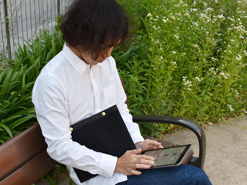 キャンバス仕様のタブレットケース(ND-PAD)