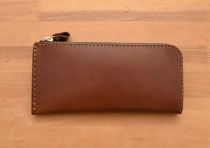 L字ファスナー長財布(WL-3) 新品のチョコ